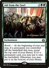Aid from the Cowl, Magic: The Gathering, Prerelease Cards