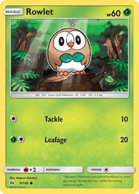 Rowlet, Pokemon, SM Base Set