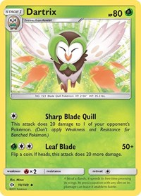 Dartrix, Pokemon, SM Base Set