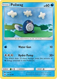 Poliwag, Pokemon, SM Base Set