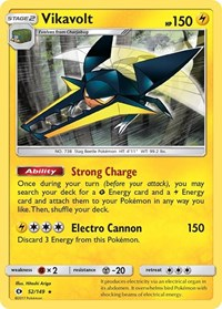 Vikavolt, Pokemon, SM Base Set