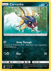 Carvanha, Pokemon, SM Base Set