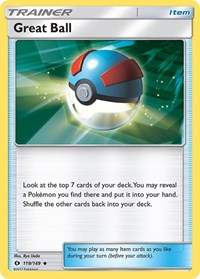 Great Ball, Pokemon, SM Base Set