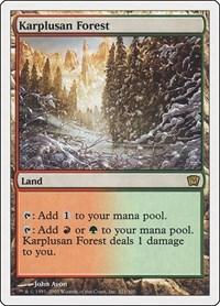 Karplusan Forest, Magic: The Gathering, 9th Edition