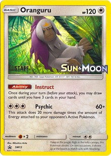 Oranguru - SM13 - Staff Prerelease Promo, Pokemon, SM Promos