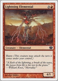 Lightning Elemental, Magic: The Gathering, 9th Edition