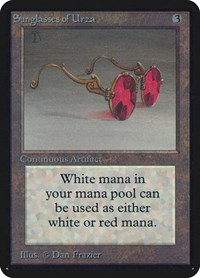 Sunglasses of Urza, Magic: The Gathering, Alpha Edition