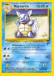 Wartortle (W Stamped Promo), Pokemon, WoTC Promo