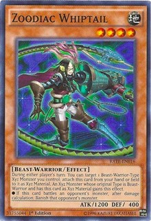 Zoodiac Whiptail, YuGiOh, Raging Tempest