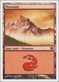Mountain (346), Magic: The Gathering, 9th Edition