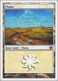 Plains (334), Magic: The Gathering, 9th Edition