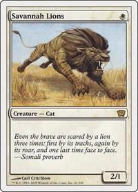 English 4th Edition MTG Magic 1x Savannah Lions Moderate Play
