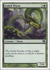 Scaled Wurm, Magic: The Gathering, 9th Edition