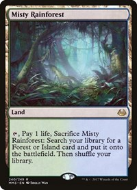 Misty Rainforest, Magic: The Gathering, Modern Masters 2017