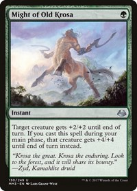 Might of Old Krosa, Magic, Modern Masters 2017