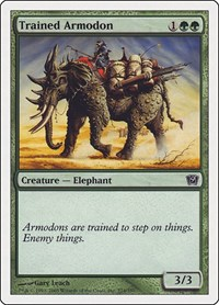 Trained Armodon, Magic: The Gathering, 9th Edition