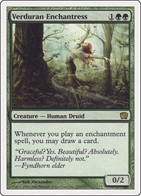 Verduran Enchantress, Magic: The Gathering, 9th Edition