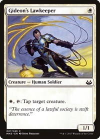 Gideon's Lawkeeper, Magic: The Gathering, Modern Masters 2017