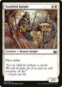 Youthful Knight, Magic: The Gathering, Modern Masters 2017