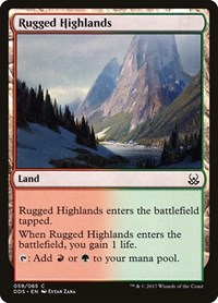 Rugged Highlands, Magic: The Gathering, Duel Decks: Mind vs. Might