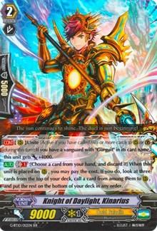 Knight of Daylight, Kinarius, Cardfight Vanguard, Raging Clash of the Blade Fangs