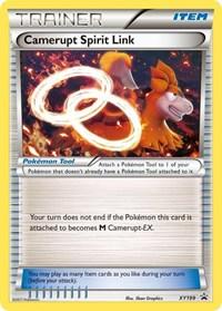 Pokemon Lucario tarjeta poco frecuentes tarjeta Spirit Link