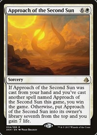 Approach of the Second Sun, Magic: The Gathering, Amonkhet