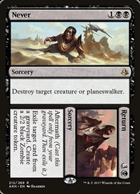 Never // Return, Magic: The Gathering, Amonkhet