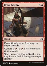 Deem Worthy, Magic: The Gathering, Amonkhet