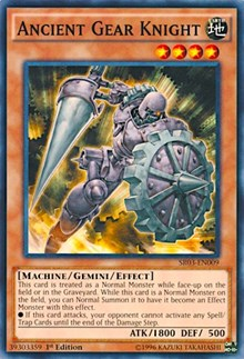 Ancient Gear Knight, YuGiOh, Structure Deck: Machine Reactor
