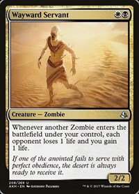 Wayward Servant, Magic: The Gathering, Amonkhet