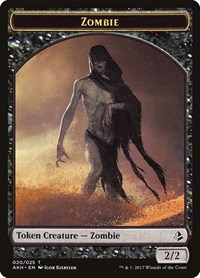 Zombie Token, Magic, Amonkhet