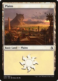 Plains (256), Magic: The Gathering, Amonkhet