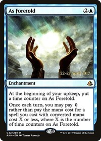 As Foretold, Magic: The Gathering, Prerelease Cards