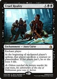 Cruel Reality, Magic: The Gathering, Prerelease Cards
