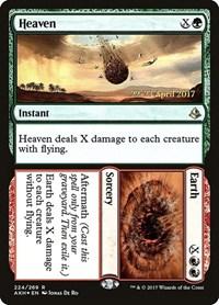Heaven // Earth, Magic, Prerelease Cards