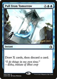 Pull from Tomorrow, Magic: The Gathering, Prerelease Cards