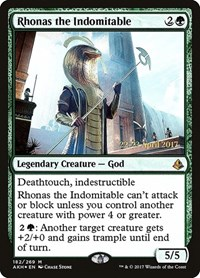 Rhonas the Indomitable, Magic: The Gathering, Prerelease Cards