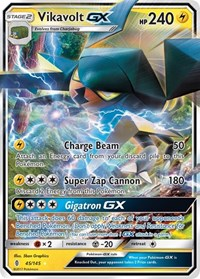 Vikavolt GX, Pokemon, SM - Guardians Rising