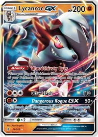 Lycanroc GX, Pokemon, SM - Guardians Rising