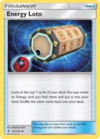 Energy Loto, Pokemon, SM - Guardians Rising