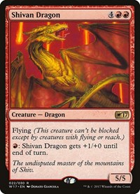 Shivan Dragon, Magic: The Gathering, Welcome Deck 2017
