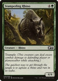 Stampeding Rhino, Magic: The Gathering, Welcome Deck 2017