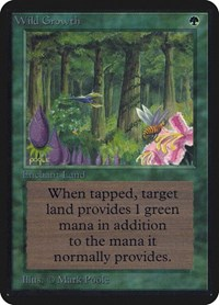 Wild Growth, Magic: The Gathering, Alpha Edition