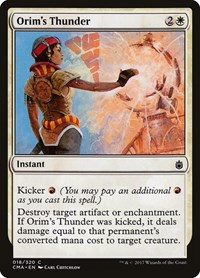 Orim's Thunder, Magic: The Gathering, Commander Anthology
