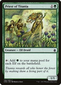 Priest of Titania, Magic: The Gathering, Commander Anthology