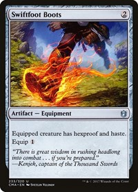 Swiftfoot Boots, Magic: The Gathering, Commander Anthology