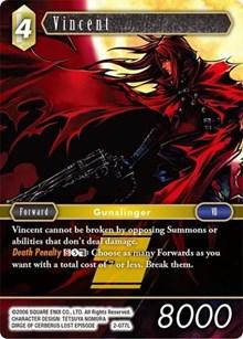 Foil Final Fantasy tcg PR-002 Vincent