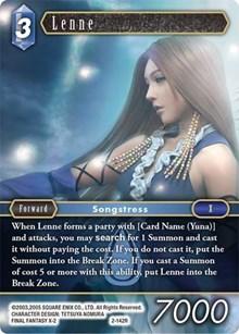 Yuna 2-138L Legendary Final Fantasy TCG OPUS 2 Booster Fresh