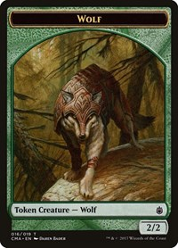 Wolf Token (016), Magic: The Gathering, Commander Anthology